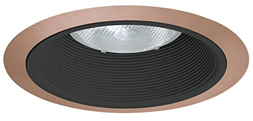 Juno Lighting 24B-ABZ 6-Inch Tapered Downlight Baffle, Black with Classic Aged Bronze Trim