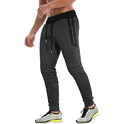 Tansozer Mens Joggers Bottoms Slim Fit