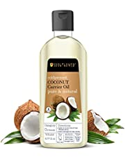 Soulflower Coconut Extra Virgin Coldpressed Oil, Deep Nourishment and Hydration, For Soft Skin and Shiny Hair, Rich Moisturizer for Summer, Pure, Natural and Vegan, 6.77 fl.oz
