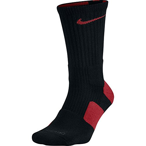 Nike Dri-FIT Elite Crew Basketball Socks Black/Varsity Red/Varsity Red Size Medium