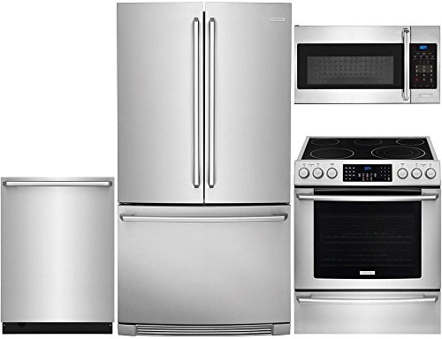Electrolux Freestanding Ice Maker - Electrolux 4-Piece Stainless Steel Kitchen Package with EI23BC82SS 36