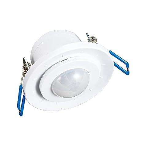 Vision-EL 775493 detector de movimiento LED empotrable, aluminio, color blanco, (