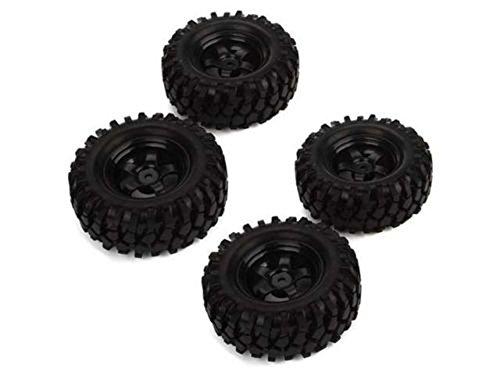 Hobbypower RC 1: 10 Climbing Car Off-Road Vehicle Wheel Rim Tires 12mm Hub(pack of 4 pcs)