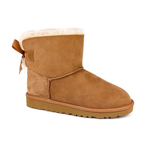 UGG Australia Girls' Mini Bailey Bow Sheepskin Fashion Boot Chestnut 5 M - Store Australia Kids