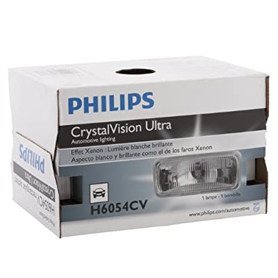 Philips H6054CVC1 CrystalVision ultra Upgrade Xenon-Look Halogen Headlight, 1 Pack: Automotive
