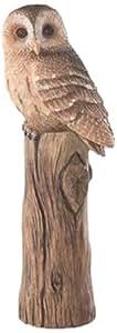 Demdaco Nature's Journey Owl on Tree Stump Figurine