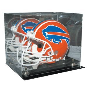 Sports Memorabilia Football Full Size Helmet Deluxe Display Case - Football Helmet Display Cases -