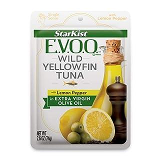 StarKist E.V.O.O. Yellowfin Tuna with Lemon Pepper In Extra Virgin Olive Oil, 2.6 oz, Pack of 24
