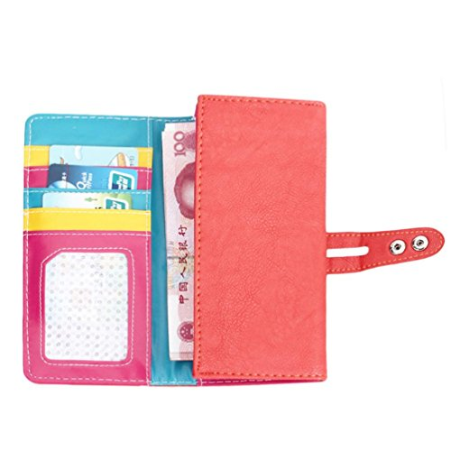 Small Fresh Wallet,Prettymenny 3 colors Wallet Mobile Phone Bag (Watermelon Red)