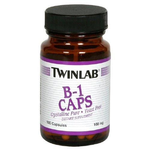 Twinlab B-1 Caps 100 mg, 100 Capsules (Pack de 6)