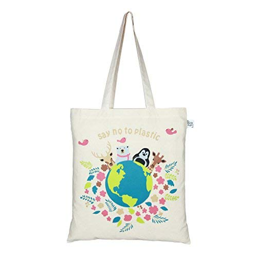 Printed Canvas Bags - EcoRight Tote Bag 100% Cotton Canvas Reusable EcoFriendly Printed
