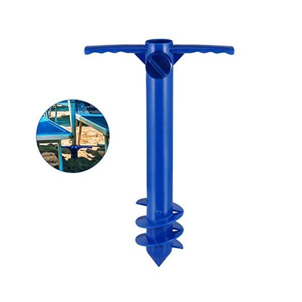 Yardwe Picchetto di Supporto per ombrellone Mare Spiaggia in plastica Porta ombrellone da Spiaggia per resistere a Forti… 7 spesavip