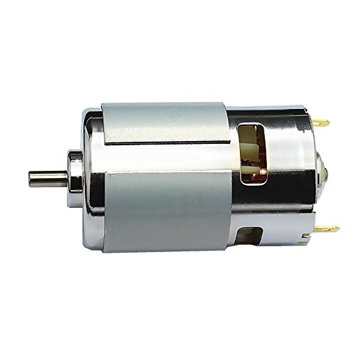 BestTong Micro DC 12V-24V 10000-19800RPM 775 Motor Ball Bearing Large Torque High Power Low Noise DC Motor for Electrical Tools DIY