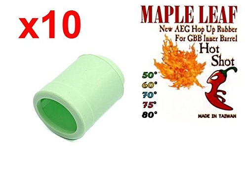 MLEmart Maple Leaf Hop Up Rubber Bucking Hot Shot / Hybrid (Delta, 50 deg, Lot of 10) by MLEmart