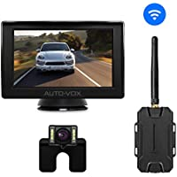 AUTO-VOX W1 Wireless Backup Camera Kit, Back Up Car Camera with 4.3 LCD Monitor+ IP 68 Waterproof Rear View License Plate Reversing Camera LED Super Night Vision for Cars,Truck,Van,Camper