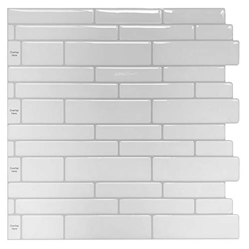 Peel and Stick Backsplash Tile Shelf-Adhesive Wall Stickers (10 ()