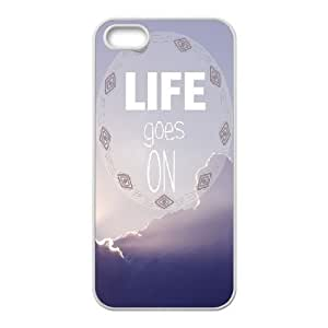 Dacase iPhone 5,5S Cover, life goes on Custom iPhone 5,5S Case