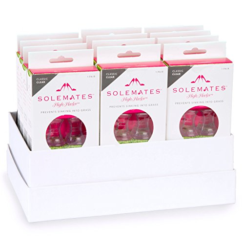 Heel Protectors by Solemates. The Bridal Bundle; 12 Packs of Classic Clear by Solemates
