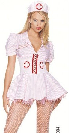 Candy Striper Nurse Outfit - Sexy Halloween Costumes Skimpy Outfits Nurse Costume M Womens U.S. Medium