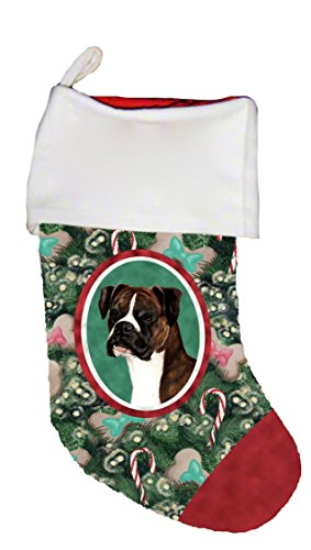 Best of Breed Boxer Brindle Uncropped Dog Breed Christmas Stocking