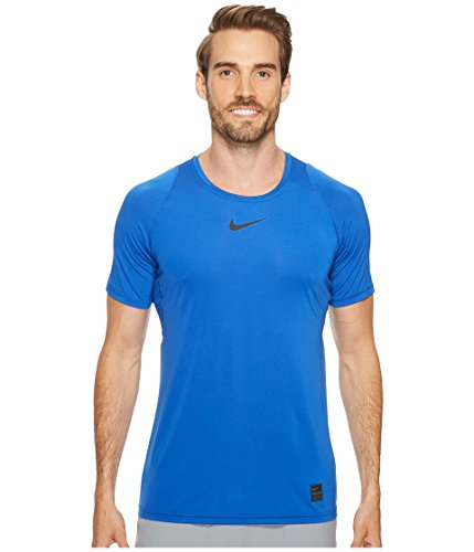 Men's Nike Pro Top Short Sleeve Fitted sz Large Game Royal Blue ()