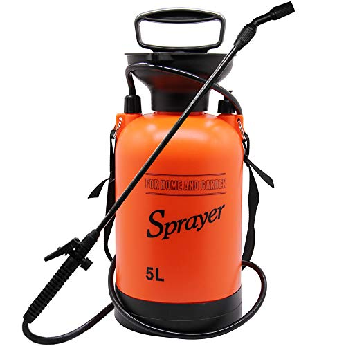 5l Garden - YOFIT Pump Pressure Sprayer for Garden & Lawn, Portable Lawn Sprayer with Shoulder Strap (5 Liter, 170 oz, 1.3 Gallon)
