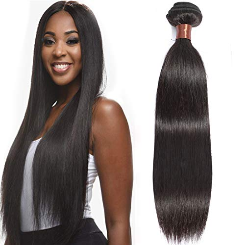 Angie Queen Virgin Human Hair Extension Weave Weft Unprocessed Brazilian Virgin Hair Straight Hair Nature Color One Bundle 18inch (100+/-5g)/bundle Can be Dyed and Bleached from Angie Queen