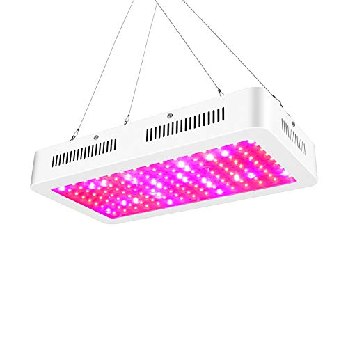 $143.00 ZXMEAN 1500W LED Grow Light with Adjustable Rope Hanger, High Power Dual Chips LED Plant Growing Lamp Full Spectrum with UV&IR for Professional Greenhouse Hydroponic Indoor Plants, Input 85V to 265V 2019