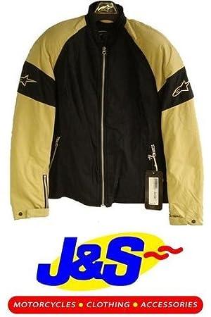 Alpinestars Sydney Mujer Textil chaqueta para mujer Moto, Color negro y beige J & S