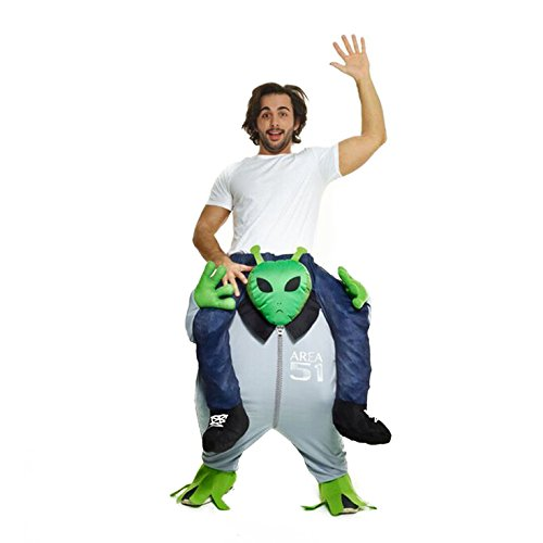 Morphsuits Men's Piggyback Costume Adult, Alien, One (Halloween Alien)