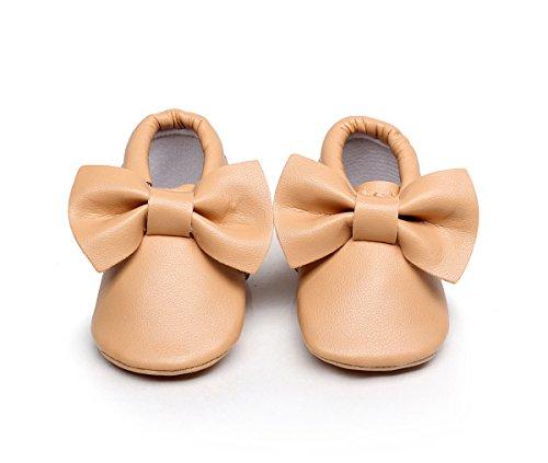 AngelaKerry - Zapatos primeros pasos de Otra Piel para niño caqui