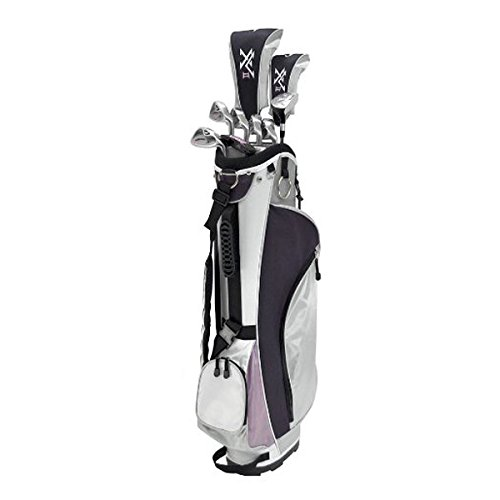 (Knight Women's 12 Piece Complete Golf Set (Right Hand, Ladies Flex, Driver, 3 Fairway Wood, 4/5 Hybrid, 6-PW, Putter, Bag))
