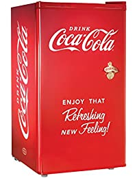 Nostalgia Coca-Cola Series RRF300SDBCOKE 3.2 Cubic Foot Refrigerator with Freezer Compartment