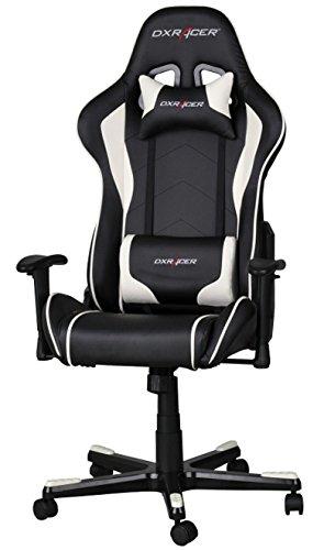 Dxracer Ohfe08nw Formula Gaming Chair Schwarzweiß