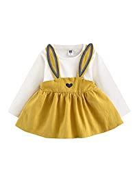 ASTV 0-3 Years Old Baby Girl Dress Cute Rabbit Bandage Suit Mini Dress