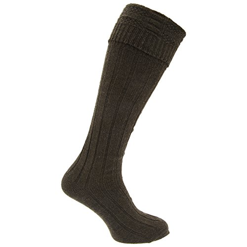 (Mens Scottish Highland Wear Wool Kilt Hose Socks (1 Pair) (7-12 US))