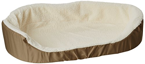 36x24 Khaki Lounger Pet Dog Bed By Majestic Pet Products Large