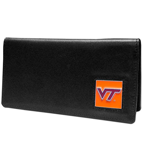 NCAA Virginia Tech Hokies  Leather Checkbook (Virginia Leather Checkbook Cover)
