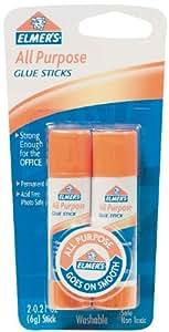 Elmer's All-Purpose Glue Sticks, 0.21 oz Each, 2 Sticks per Pack (E512)