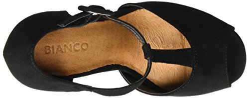 Mujer Bianco Exp16 Black Jane para Open Mary Negro Sandalias Shoe naxwBnqF