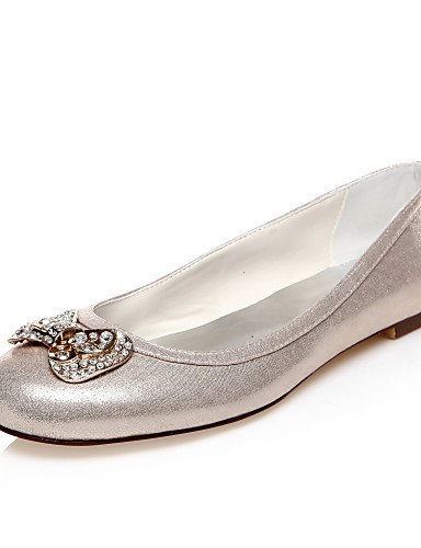 Redonda De us10 Zapatos oro punta Zq mujer Golden Eu42 5 Vestido planos 5 Boda Uk8 Y Noche boda Fiesta Cn43 6xXwqw