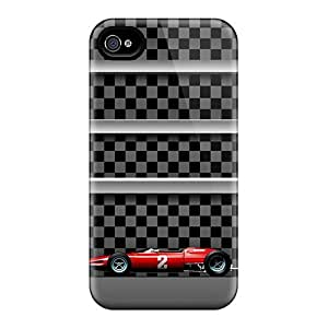 Excellent Design Racing Model Background Case Cover For Iphone 4/4s