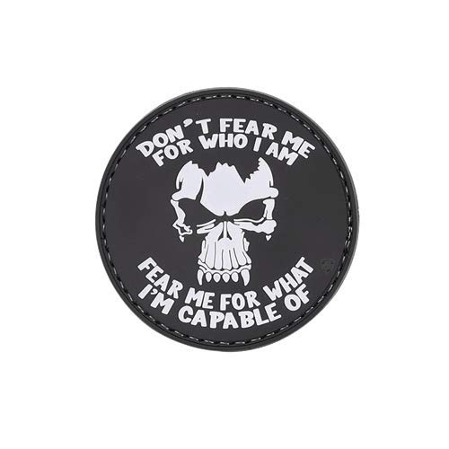 5ive Star Gear 6658 Don't Fear Me, Skull, Military PVC Morale Patch, 2.25