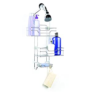 HomeCrate Over The Shower 2 Tier Shower Caddy With Adjustable Shelves And Soap Dish, Chrome
