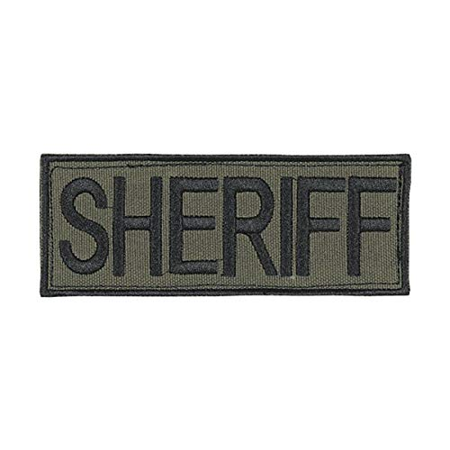 VooDoo Tactical Law Enforcement Patches, Sheriff, Black Lettering on OD, 9