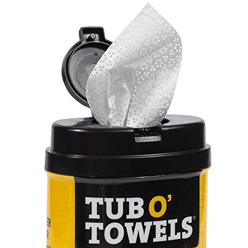 """Tub O Towels Heavy-Duty 7"""" x 8"""" Size Multi-Surface Cleaning Wipes, 40 Count Per Canister, White, Model Number: TW40"""
