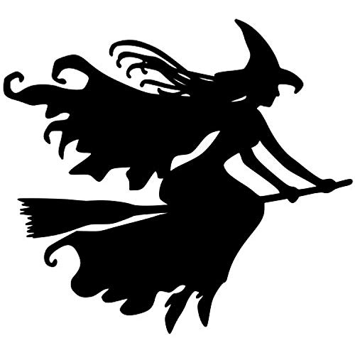 A Good Decals USA Witch on Broomstick Vinyl Decal Sticker Witchcraft Halloween Wicca - 8