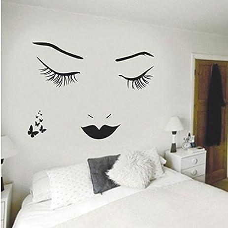 Amazon.Com: Wall Stickers Long Eyelashes Beauty Girl Home Decor