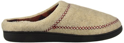 Women's Dearfoams Clog Stitch Felt Heather Width Oatmeal Wide Slipper X vCwO7q