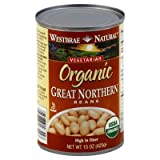 Westbrae Natural Organic Great Northern Beans 15 Oz (Pack of 6)